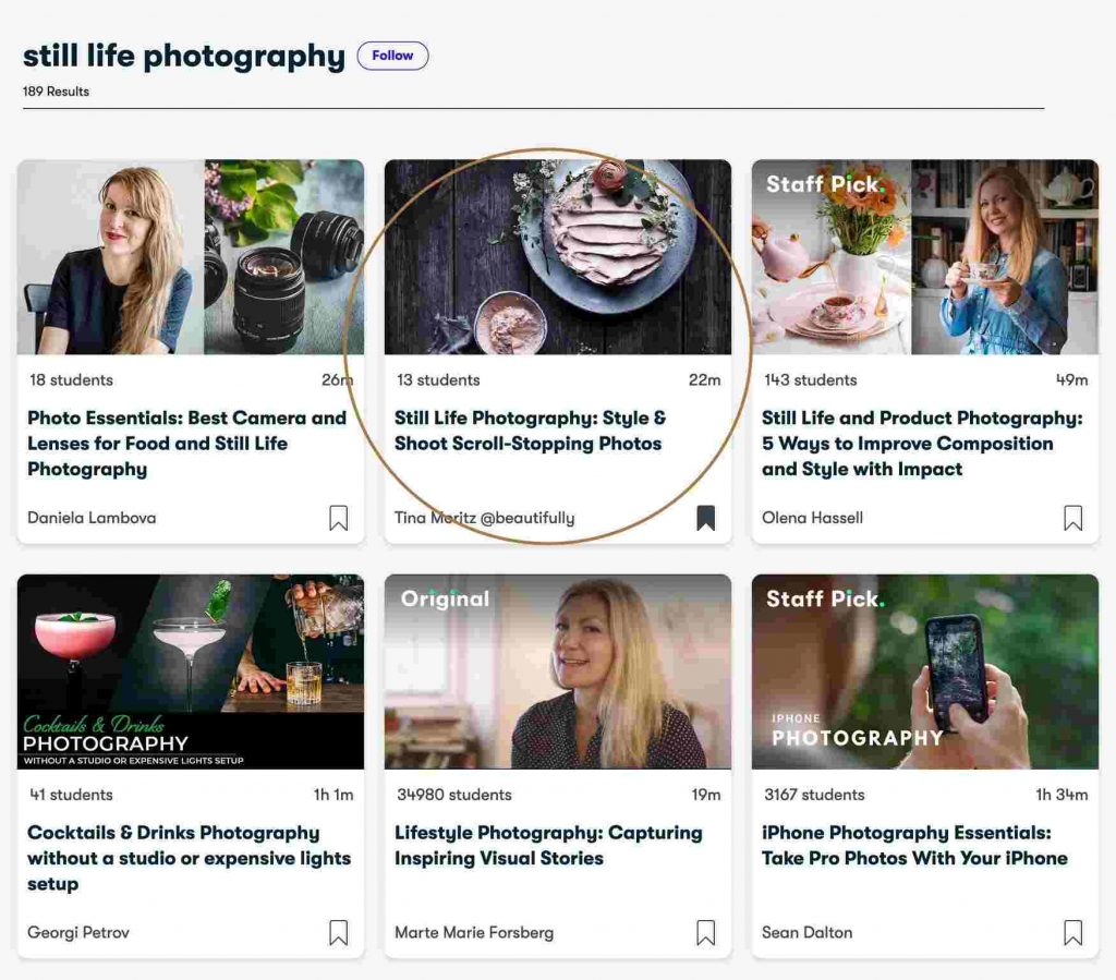 Online Photography Course on Skillshare
